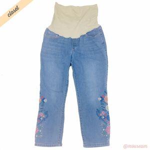 [Flutter & Kick] Skinny Ankle Floral Jeans